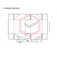 Custom_4_Corner_Cake_Boxes_Template