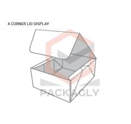 Custom 4 corner Lid Display Boxes Template