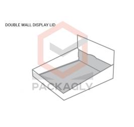 Custom Double Wall Display Lid Template