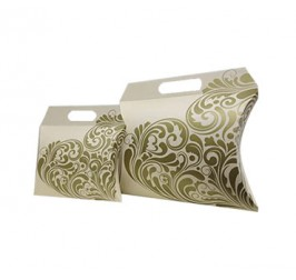 Custom Pillow Handle Packaging Boxes