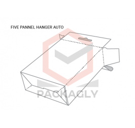 Five Panel Hanger Auto Bottom Boxes Templates