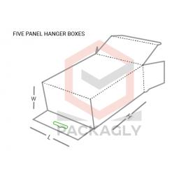 Custom Five Panel Hanger Boxes Templates
