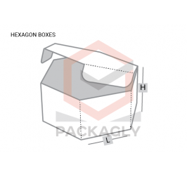 Custom Hexagon Boxes Template
