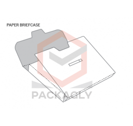 Paper Brief Case Boxes With Templates