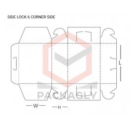 Custom Side Lock Tuck Top Display Box Template